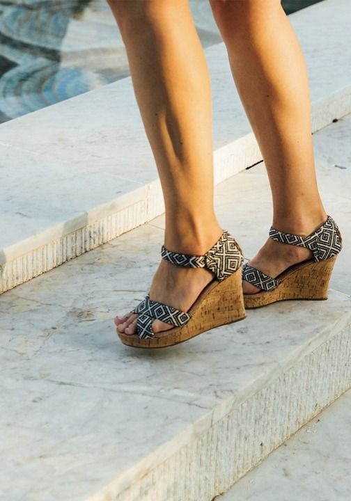 TOMS® These bold wedges are ready to party.
