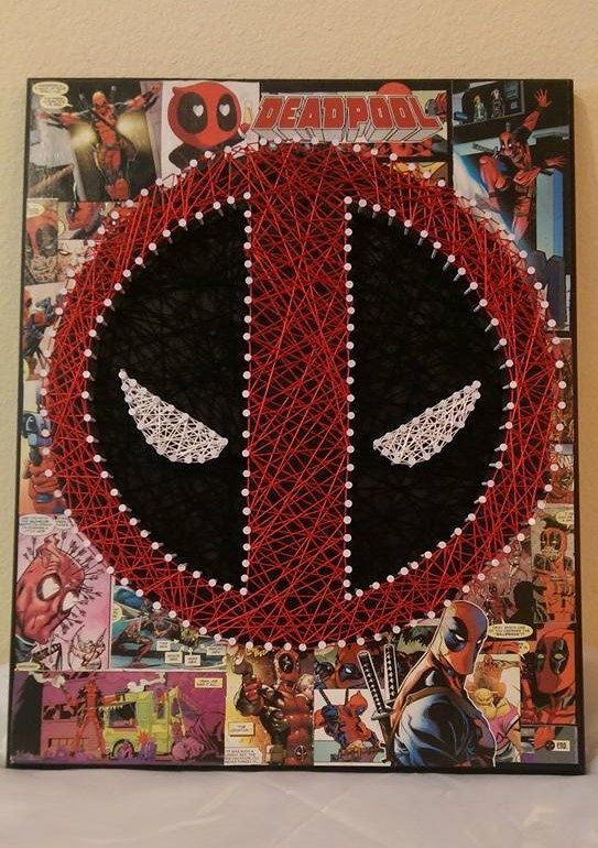 Deadpool String Art by JelisasCreations on Etsy