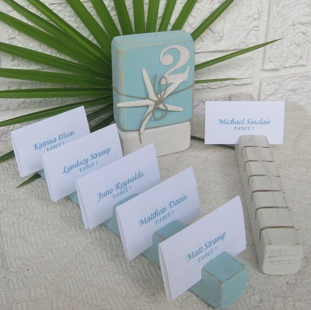 Beach Wedding Escort Cards By GUESS WHOOO DESIGNS On Etsy