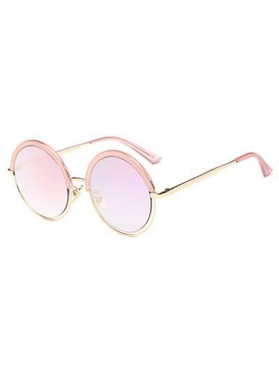 Ahueca hacia fuera en espejo Gafas de sol redondas