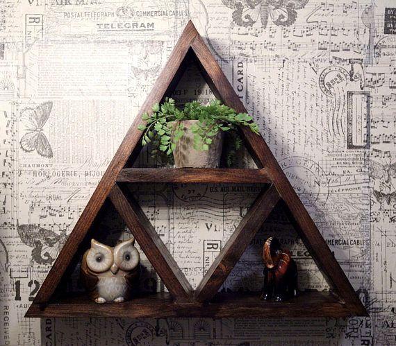 Rustic Triangle Shelf // Bathroom // Bedroom // Living Room // Zelda Triforce // Decor // Wall Art // Gift