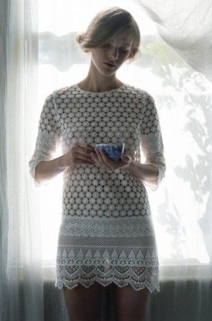 Beautiful Thread Crochet Dress from TBA Spring/ Summer 2012.