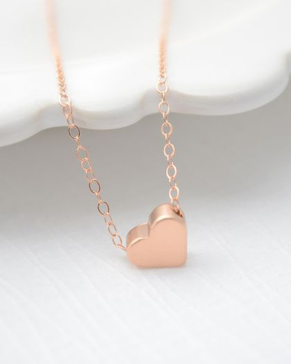 Rose gold sweetheart necklace