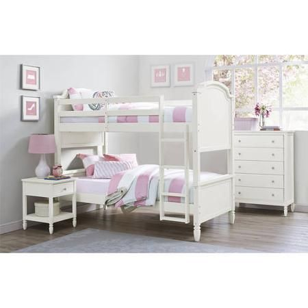 Better Homes And Gardens Lillian Twin Bunk Bed White Girl 39 S Room Pinterest