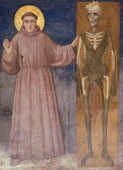 Фрески Нижней церкви Сан-Франческо в Ассизи. Фрески правого (северного) трансепта - Святой Франциск и смерть. Джотто ди Бондоне