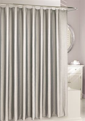 Shop Moda At Home 203463 Metallic Silver X Saber Fabric Shower Curtain At  Loweu0027s Canada. Find Our Selection Of Shower Curtains U0026 Liners At The Lowest  Price ...