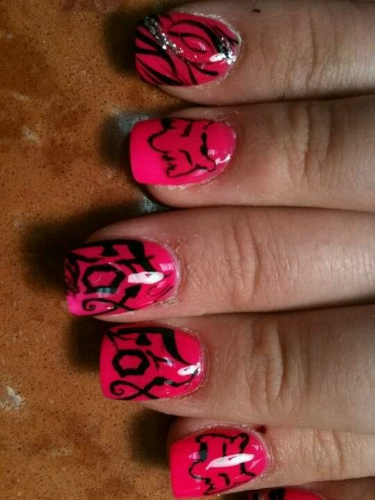 23 Best Acrylic Fox Racing Nails Images On Pinterest