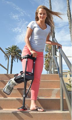 iWALK 2.0 is an award winning hands free crutch that is easy to use. It eliminates the pain and inconvenience of conventional crutches.