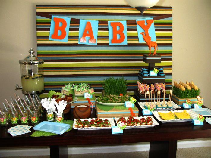Jungle Baby Shower Guest Dessert Feature