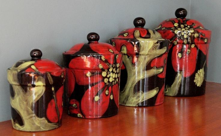 Kitchen Storage Set Red