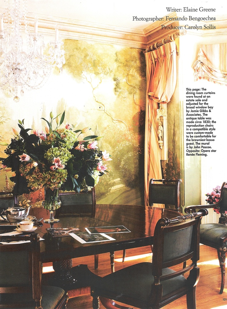 Love The Drapes on the Wall...Interior Design by John Pascoe