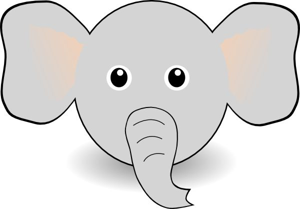Free Printable Elephant Template | Funny Elephant Face Cartoon clip art