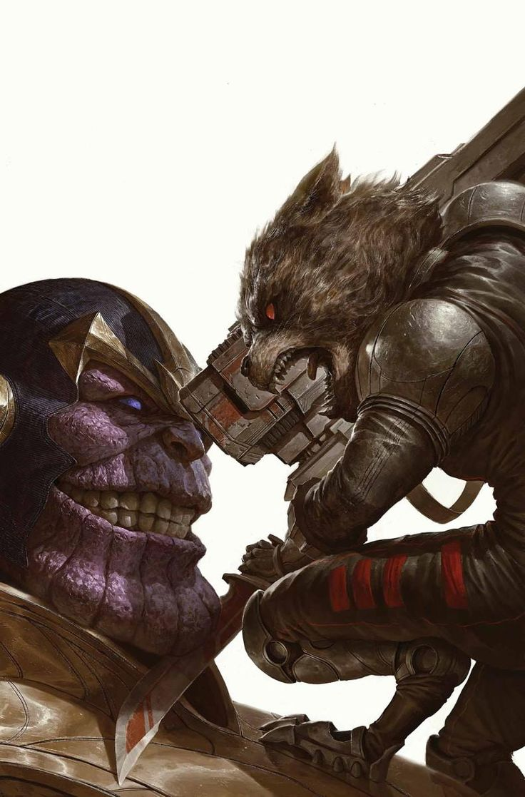 What If? Infinity - Guardians of the Galaxy by #4 - Rocket Raccoon vs. Thanos by Dave Rapoza *