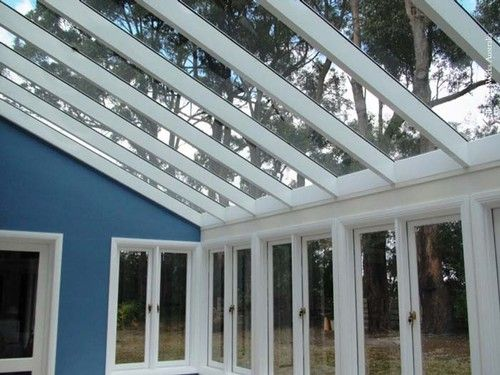 Pic 2 Glass Conservatory Internal View White Colorbond
