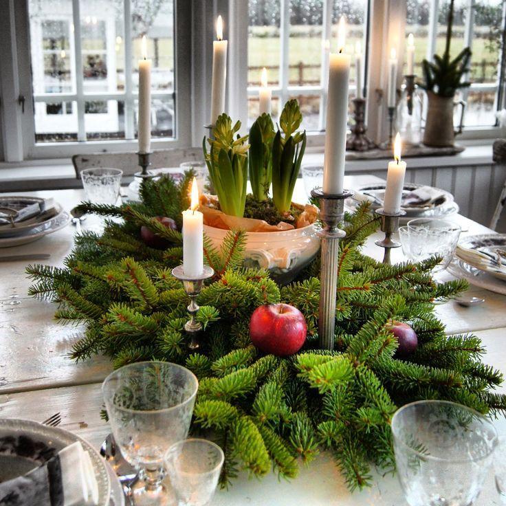 Идеи и советы от мастеров сервировки: как гармонично украсить стол на Новый год 2017 http://happymodern.ru/kak-ukrasit-stol-na-novyj-god-2017/ Простой и красивый декор стола в кантри стиле