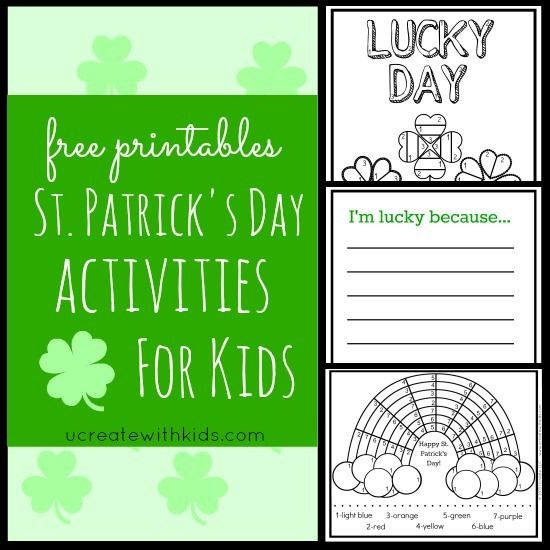 Saint Patrick's Day Color By Number Printables!!