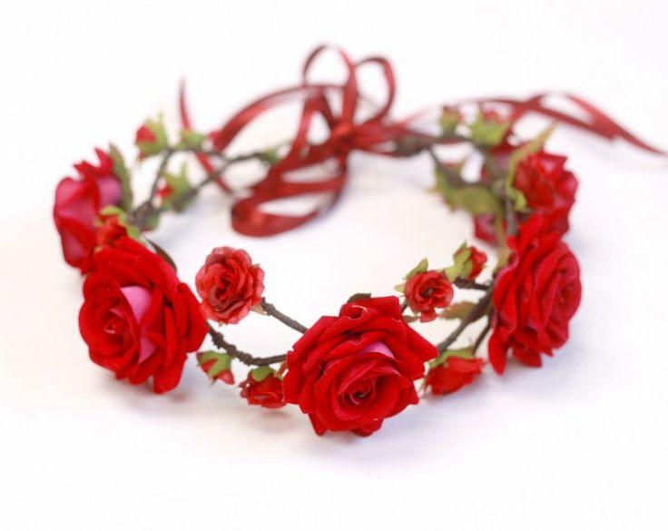Coroinha de Flores Vermelho Paixão - G.Offer