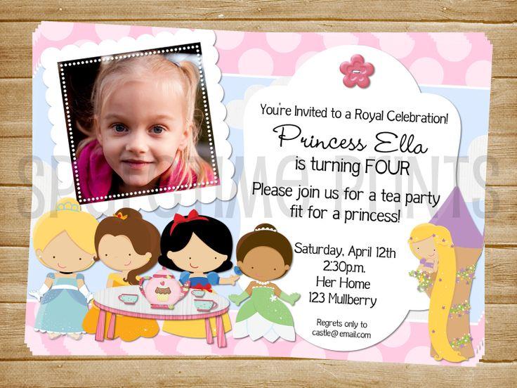 Printable Princess Birthday Invite Tea party by SparetimePrints, $11.00