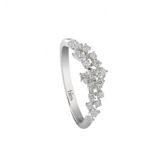 Bliss ring witgoud met diamanten