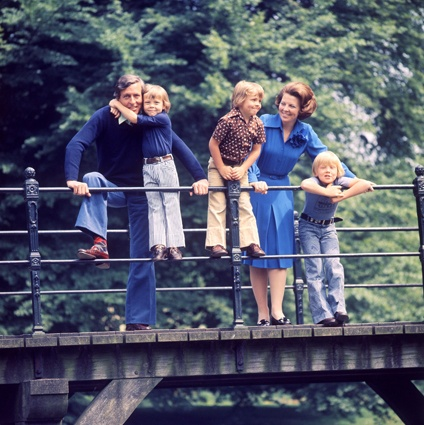 Happy times Dutch Royal family in 1975 Beatrix and Claus