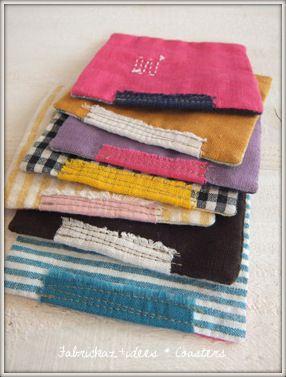 #patchwork #potholders, handmade*zakka   fabrickaz+idees