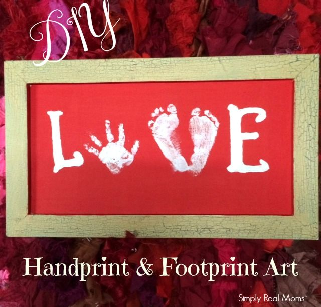 DIY Handprint and Footprint Art *Perfect for Valentine's day!