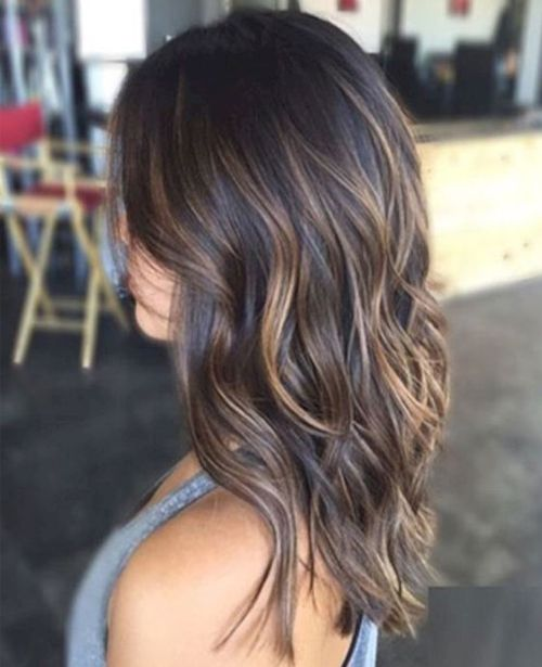 Hottest Long Layered Hairstyles 2018 for Women With Brunette Highlights