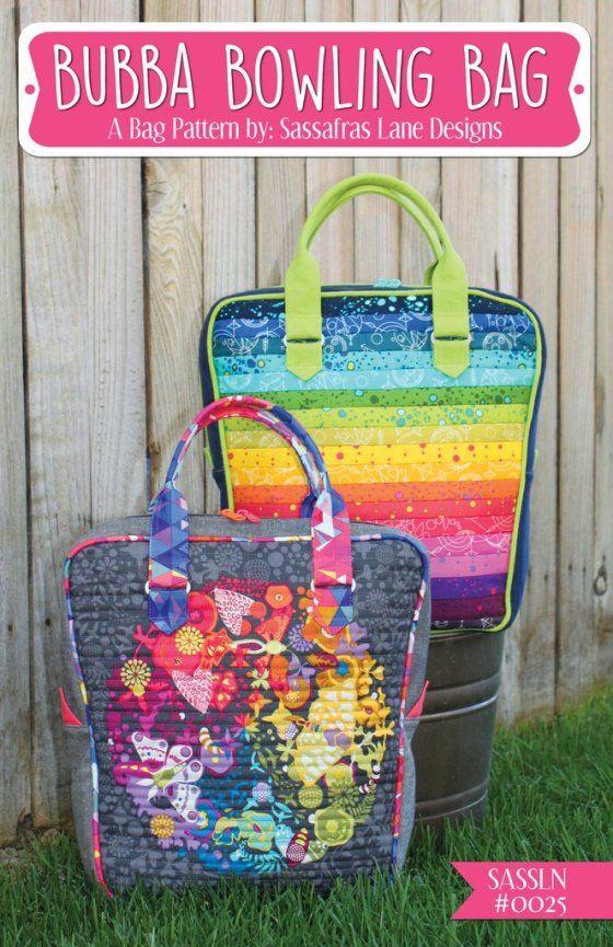Bubba Bowling Bag Sewing Pattern Download from Sassafras Lane Designs