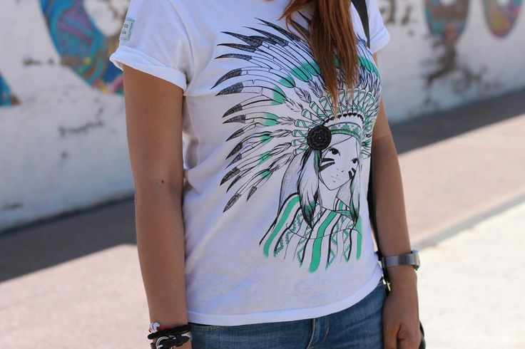 american indian shirt Olathe, design by Chica con flequillo