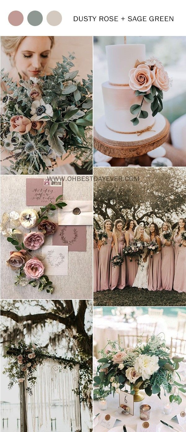 25 Trending Dusty Rose and Sage Wedding Color Ideas