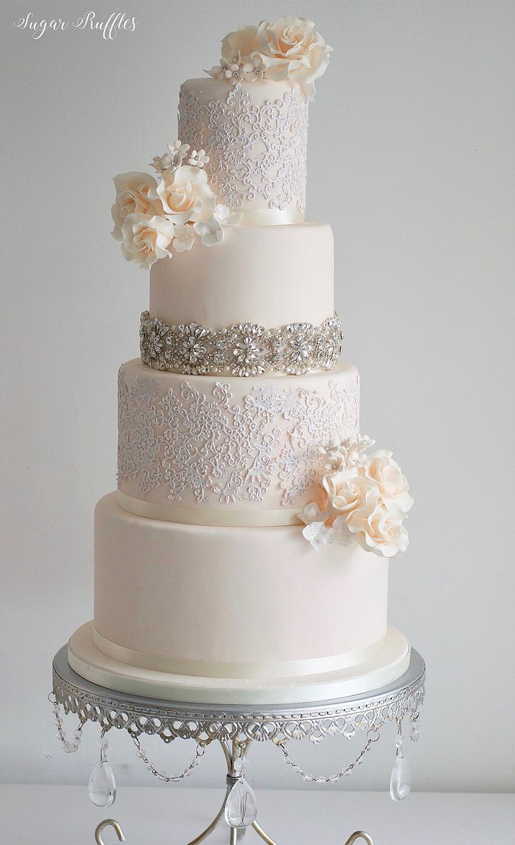 Sparkle Wedding Cake Stands