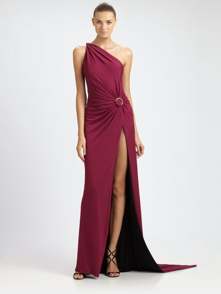 Emilio Pucci Oneshoulder Gown in Purple (berry) | Lyst