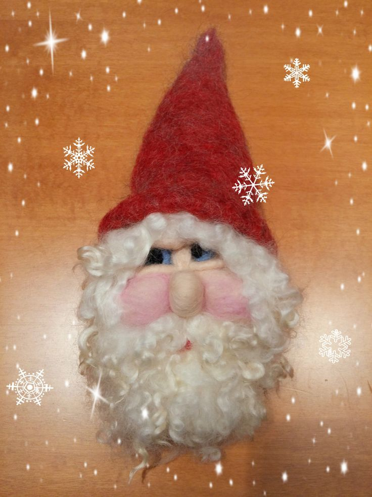 Decorative Santa Claus/Christmas Ornament/Wreath by HappyFeltingHour on Etsy