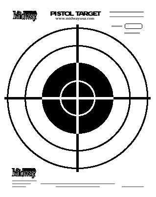 Midway pistol target