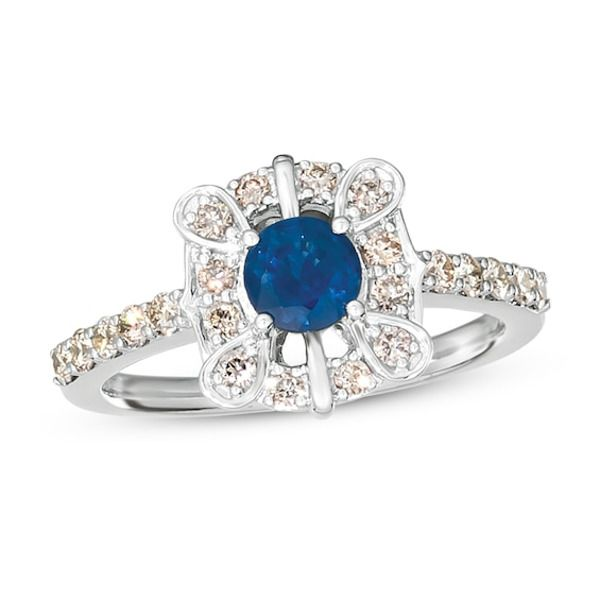Le Vian Sapphire Ring 1 2 Ct Tw Diamonds 14k Vanilla Gold In 2020 Fashion Rings Rings Diamond