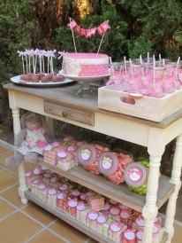#Primera #comunion en color rosa