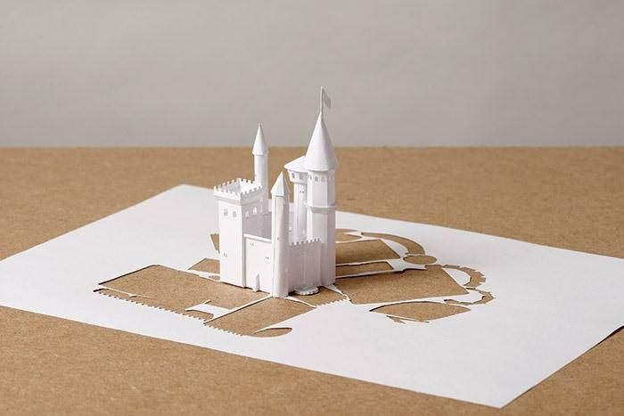 Danish artist Peter Callesen's Single Sheet Paper Sculpture