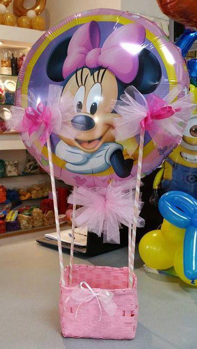 mongolfiera decorazione con palloncino a tema con base cestino vuoto per battesimo primo compleanno comunione laurea matrimonio 18 anni di Festalandia su Etsy