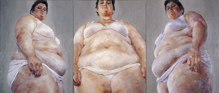 Jenny Saville   Strategy (South Face/Front Face/North Face) 1993-94 Oil on canvas (triptych) 274 x 640 cm   108 x 252""