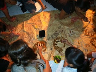 AWESOME Cave painting lesson and other elementary ideas
