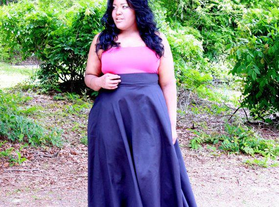"""Plus size High Waist/  Plus Size Maxi Wrap Skirt ( 2 - 24 ) 41 -  42"""" L - 5 colors"""