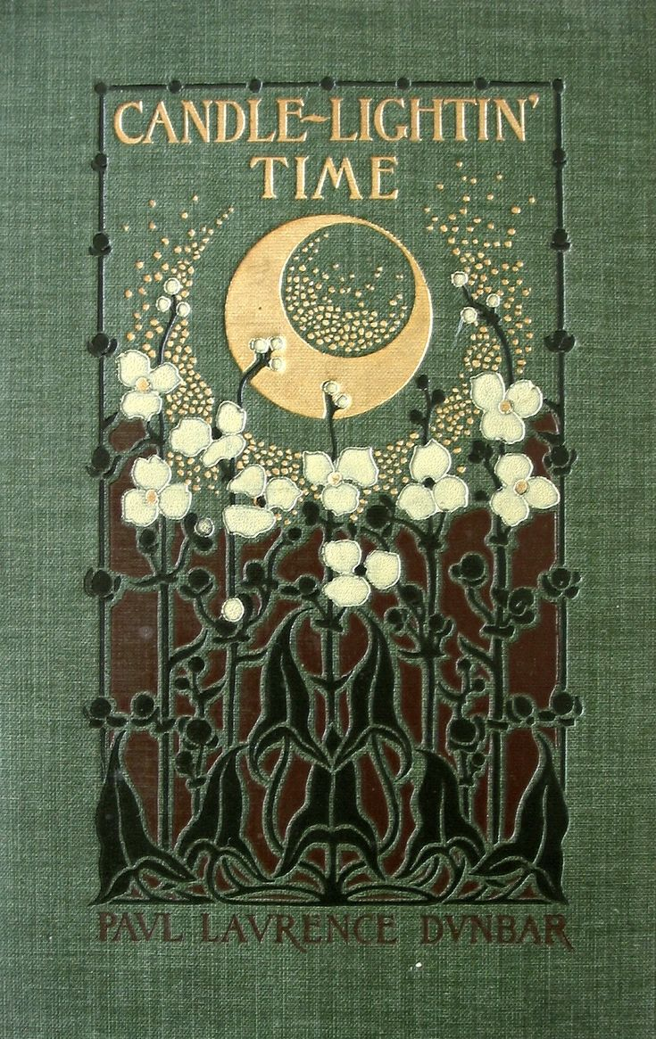 "Book Cover with Decorative Gold Stamping .... 1901 ~ Candle-Lightin' Time"" by Margaret Neilson Armstrong (1867-1944), American Designer, Illustrator & Author ...."