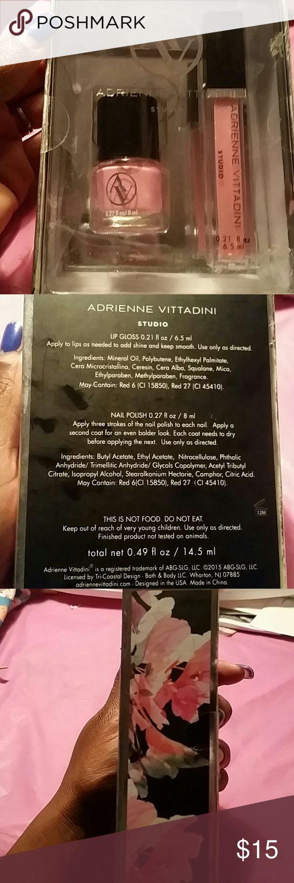 ADRIENNE VITTADINI Studio Set ADRIENNE VITTADINI Studio Set With ☆Nail polish☆Lip Gloss Adrienne Vittadini Makeup Lip Balm & Gloss