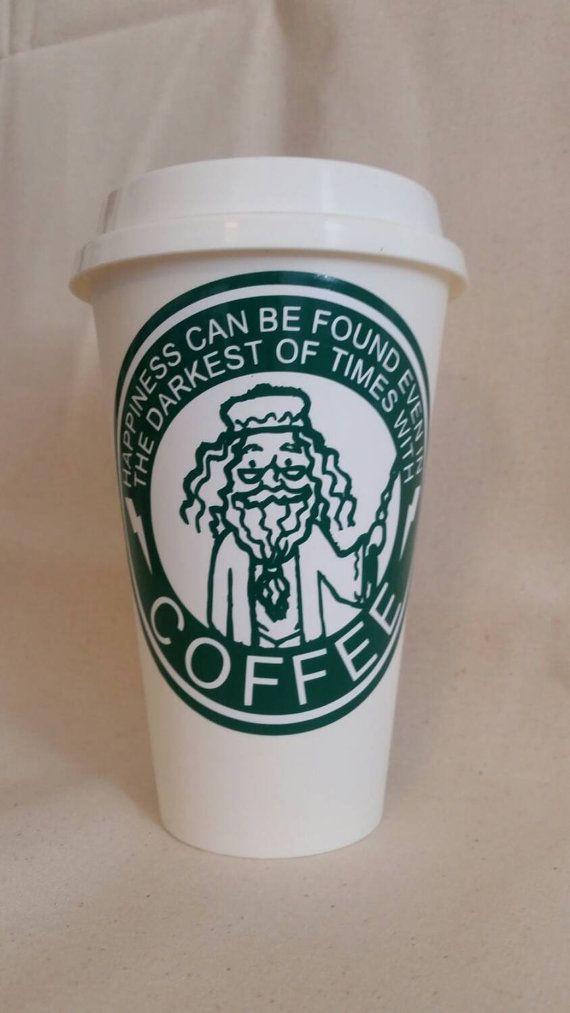 Harry Potter Kaffeebecher | Kunststoff - wiederverwendbar - Travel Mug | 16oz | Zitat von Dumbledore |