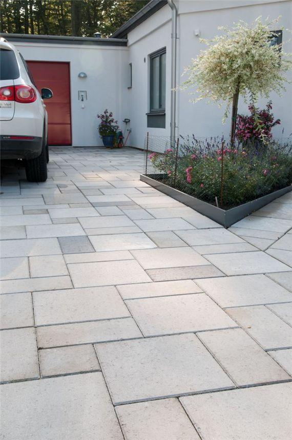 Betongplattor i blandade storlekar,romanum mönster, Våxtorps betong