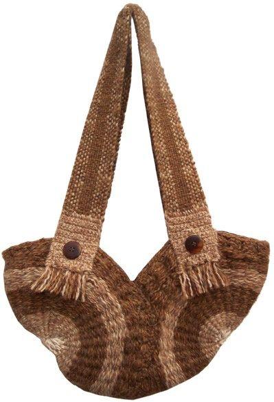 $40.000 COP Bolso en lana tejido en telar redondo