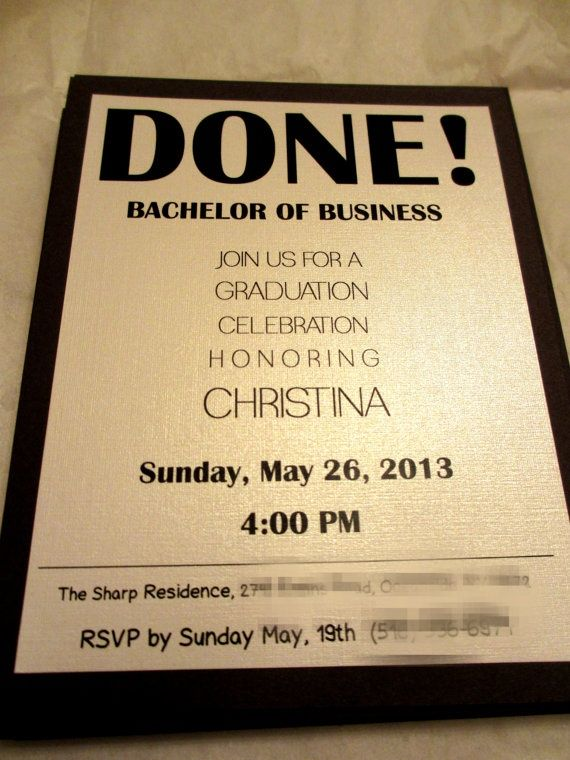 College Invitation Examples | Graduation Invitations ...