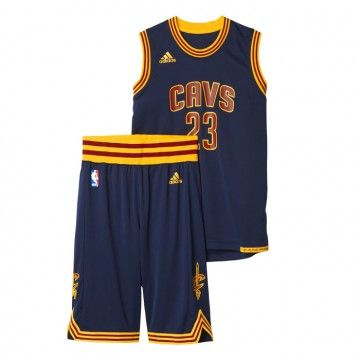 Cleveland Cavaliers - Maillot et short NBA Lebron James Junior Marine AY1553