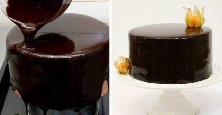 SLR čokoládová poleva na torte