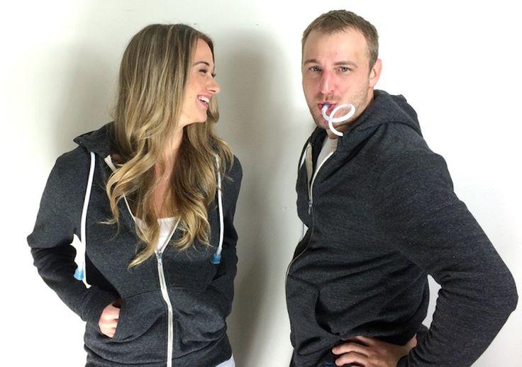 Boozie, la veste dans laquelle vous allez pouvoir planquer vos flasques d'alcool - http://www.leshommesmodernes.com/boozie-hoodie-alcool/